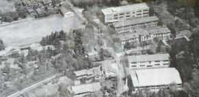 昭和33年当時の学校(空撮)